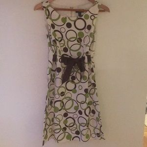 Kim Rogers Signature Dress, Cream, Green, Brown 10